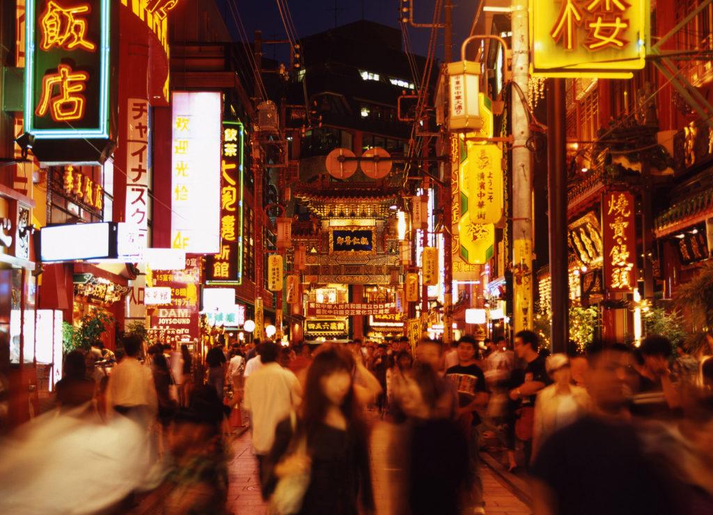 中国 繁華街